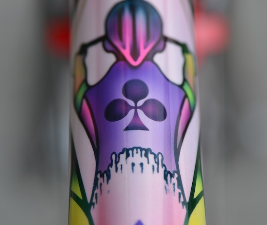 Colnago Dream top tube rider