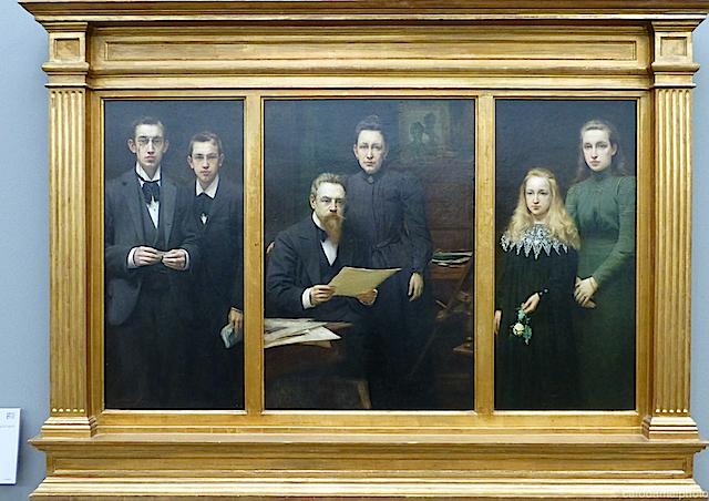 Selfie 1901 (Edmond van Hove, ganz links)