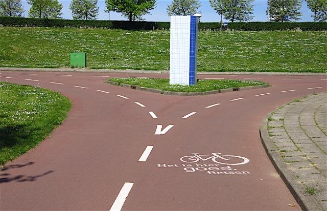 het is hier goed fietsen